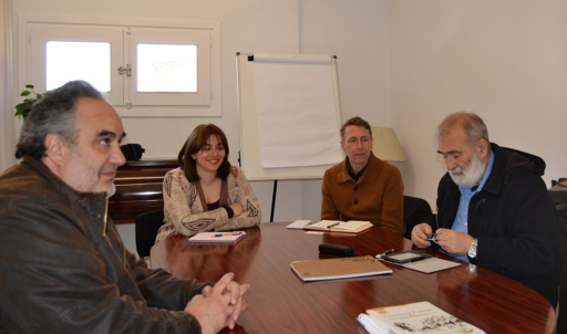 First working group meeting with PI. Pictured: Kike Eguren, Tatiana Villacieros, Christoph Klotz y Javier Azpilicueta