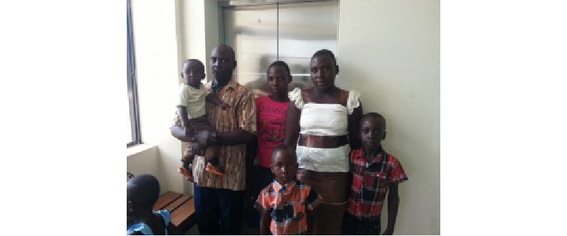 HRD Joel Ogada with his whole family