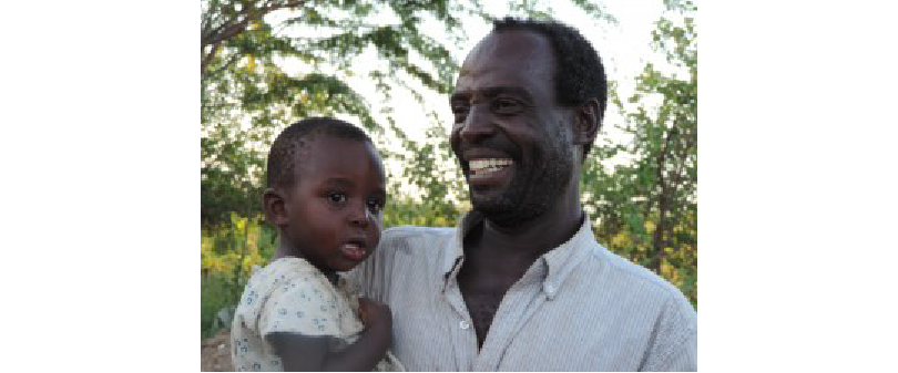 Human Rights Defender Joel Ogada with his daughter