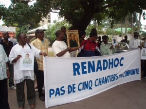 Demostration in DRC against impunity for the muder of